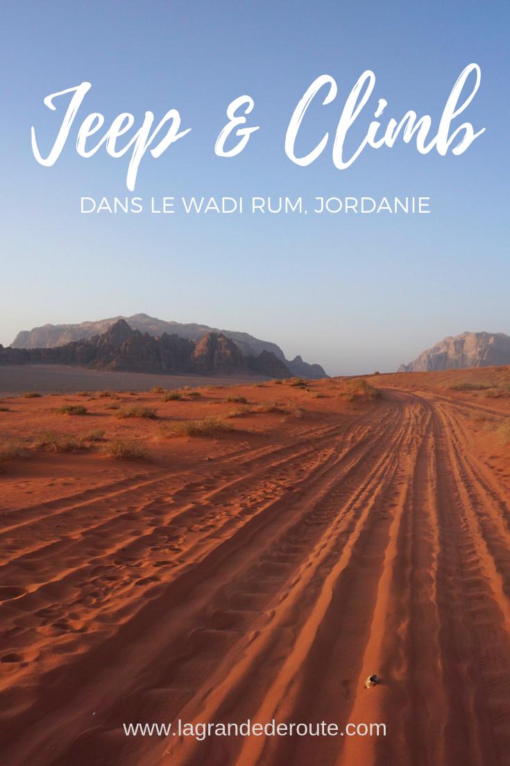 [Jordanie] Jeep & Climb et nuit dans le Wadi Rum : récit et conseils #wadirum