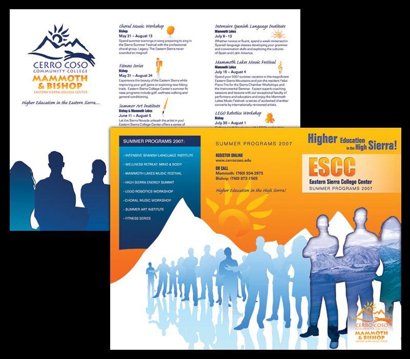 Trifold Brochure Design, Community College