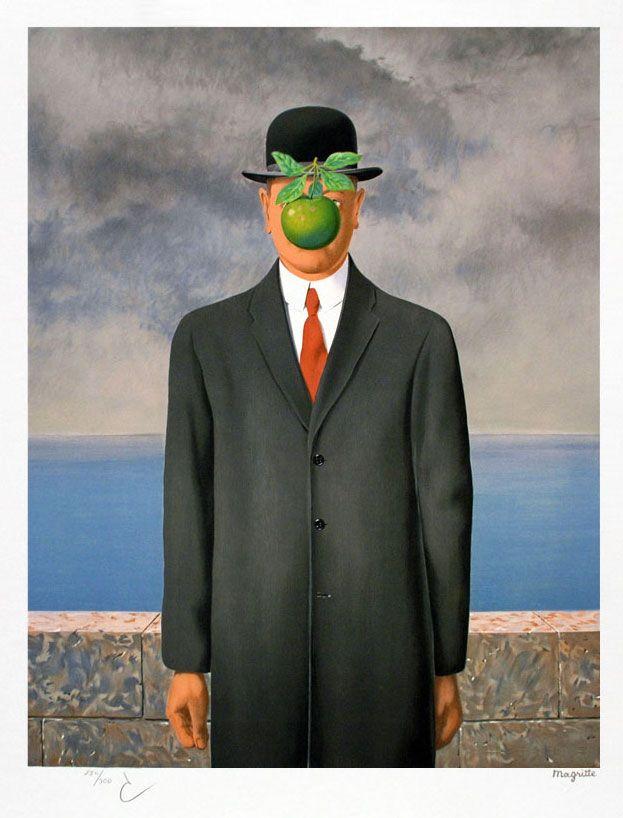 Le fils de l homme 1964 l influence des tableaux de - Tableau chapeau melon pomme verte ...