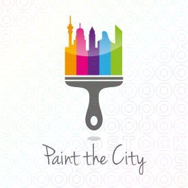 Paint The City Logo With Images City Logo Logos Graphic Design