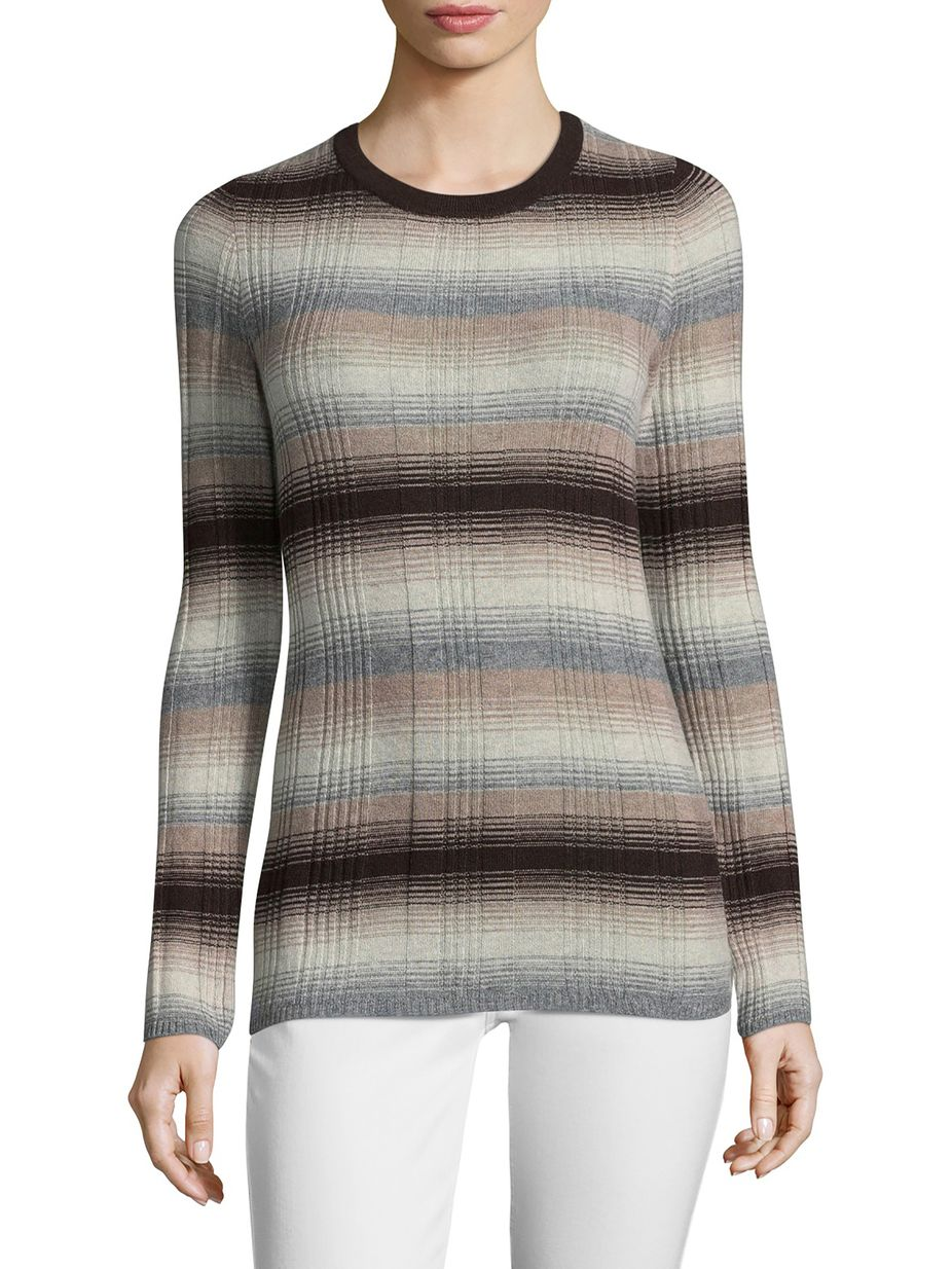 Autumn Cashmere Cashmere Ombre Striped Sweater Women Styles