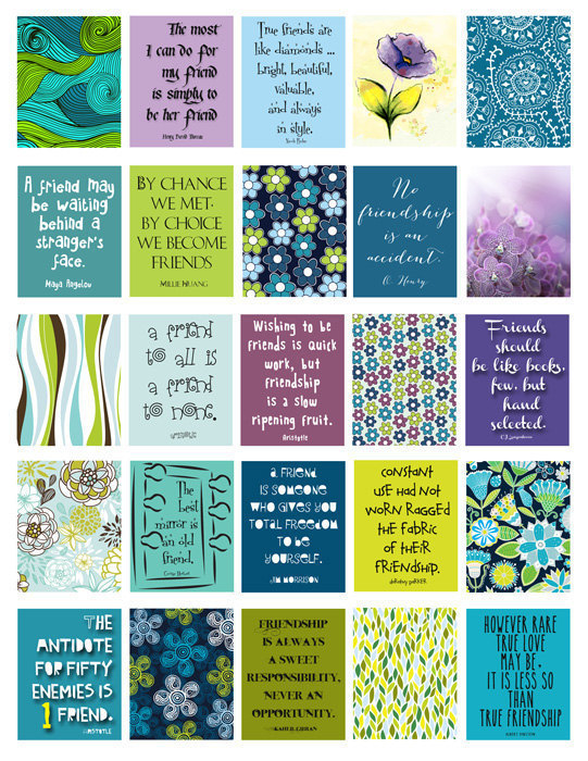 Friendship Quotes Stickers Life Planner Printable Digital