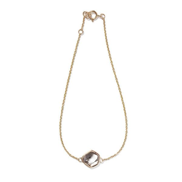The Polki Bracelet, 14k Gold Bracelet, Delicate Jewelry, Polki Diamond, Minimal, Minimalism, Natural, Raw, Organic, India by BlackBettyDesignUSA on Etsy