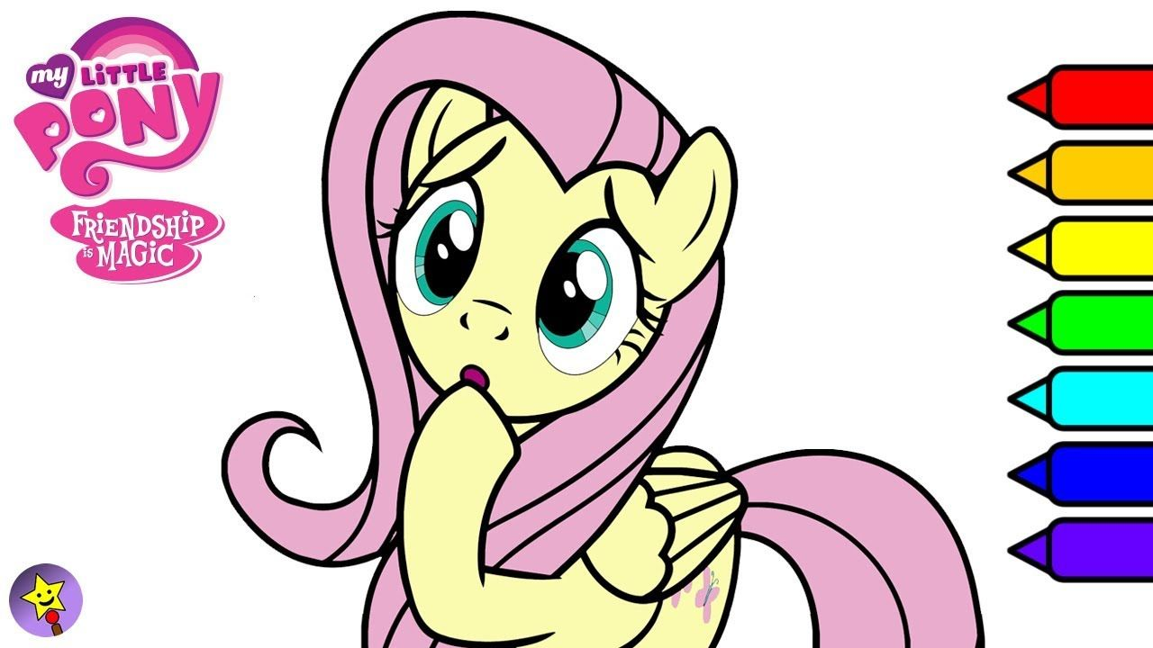 My Little Pony Fluttershy Digital Coloring Book Page Video Fluttershy Coloring Book Page My Li My Little Pony Coloring Coloring Books My Little Pony Friendship