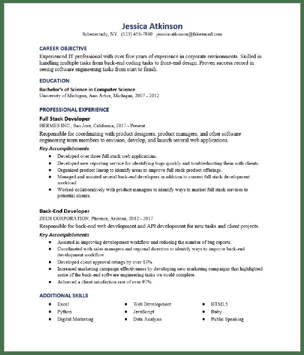 46 Php Developer Resume Gif In 2021 Resume Sample Resume Templates Online Resume