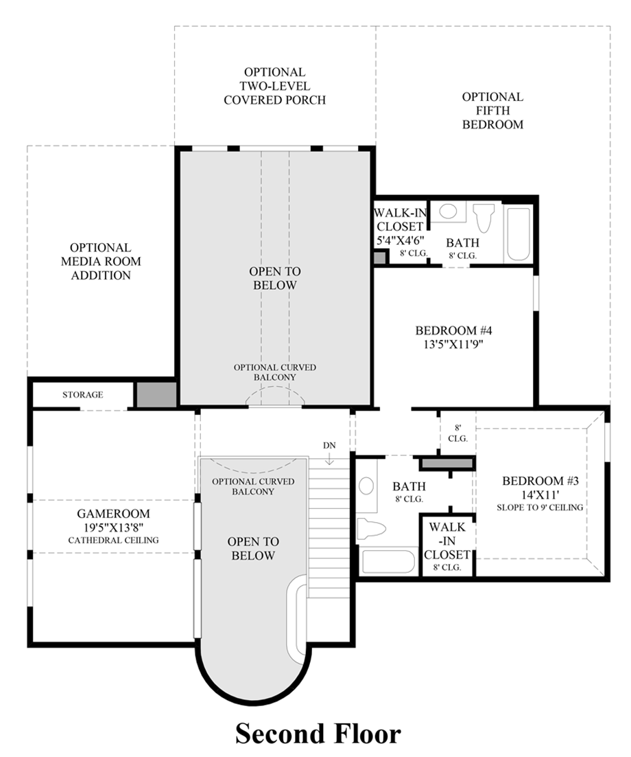 2nd Floor Floor Plan New homes for sale, New