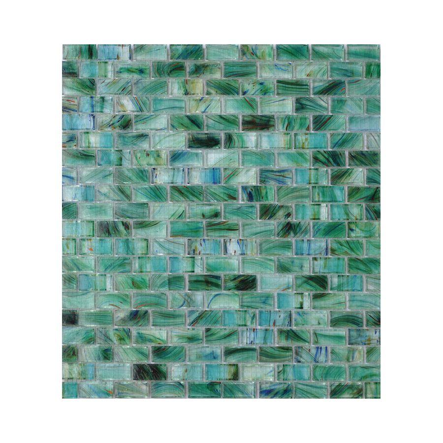 American Olean Visionaire Peaceful Sea Brick Mosaic Glass Wall
