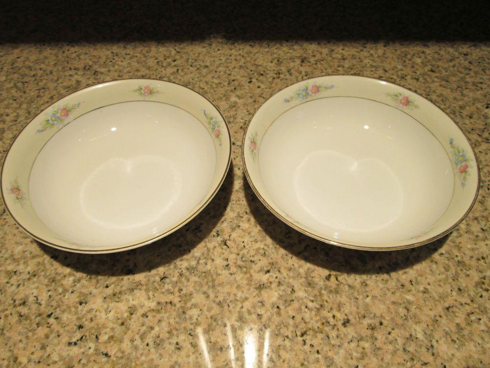 2) Cir pre-1921 Noritake Nippon China SEDAN bowl 6 1/8\