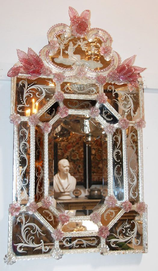 Model Of Venetian Glass Mirror from antiquingwithpamela on Ruby Lane525 x 900 124 7KB Awesome - Model Of venetian glass mirror For Your Plan