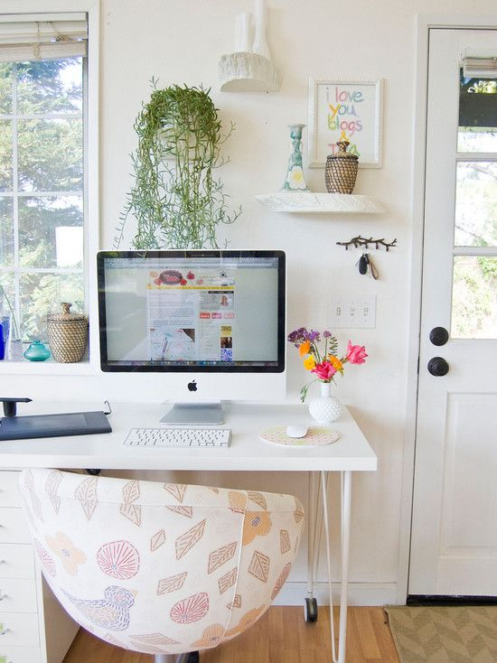 Farmhouse Home Office With Remarkable Ikea Office Desk With White