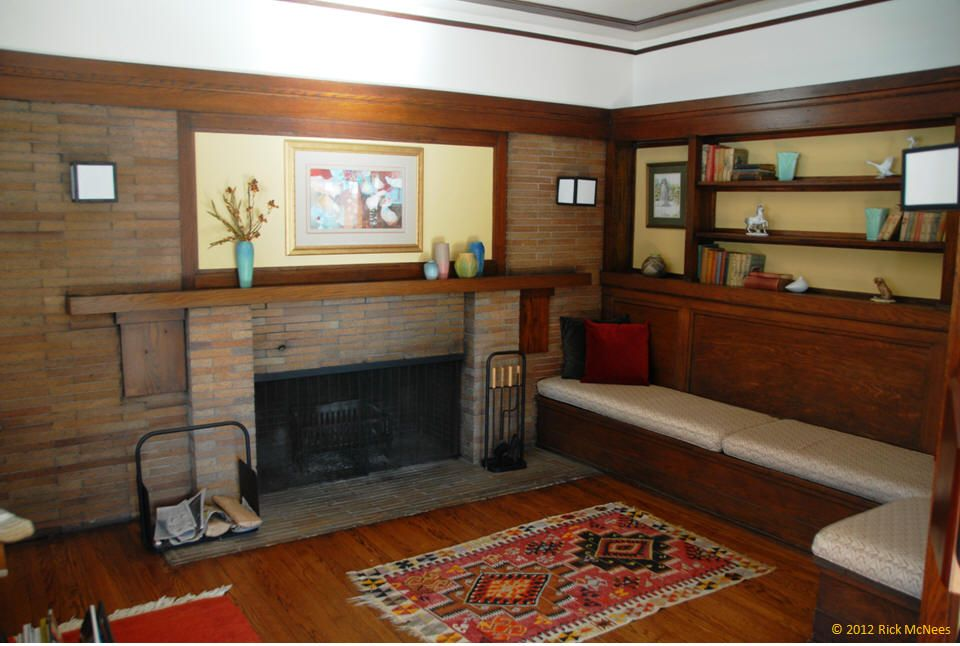 frank lloyd wright fireplaces - Google Search | Prairie Interiors ... : martin fireplace : Fireplace Design