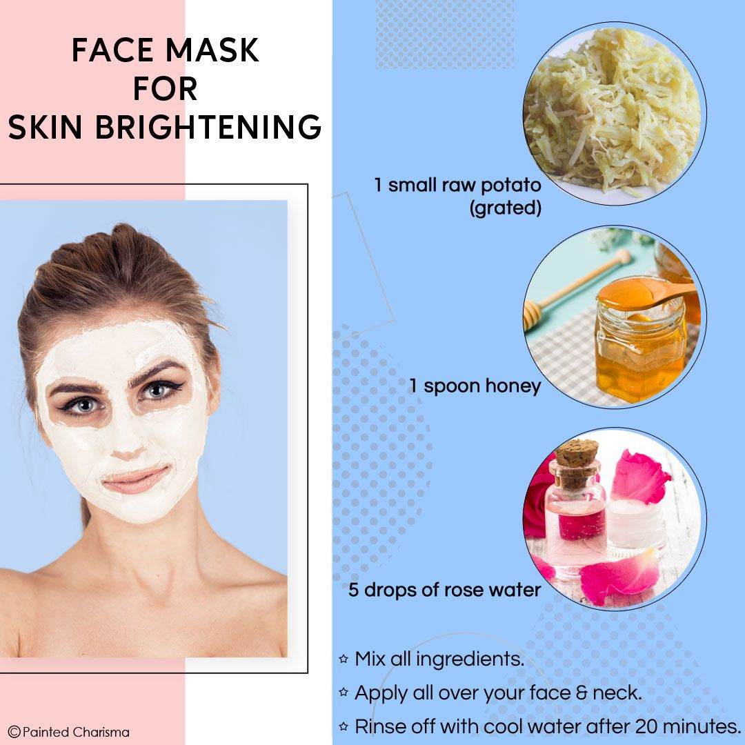 Face Mask For Skin Brightening  Remedies for glowing skin, Skin