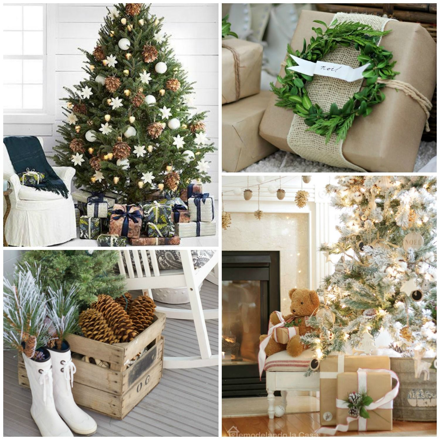 Rustic Natural & Neutral Christmas Style Series