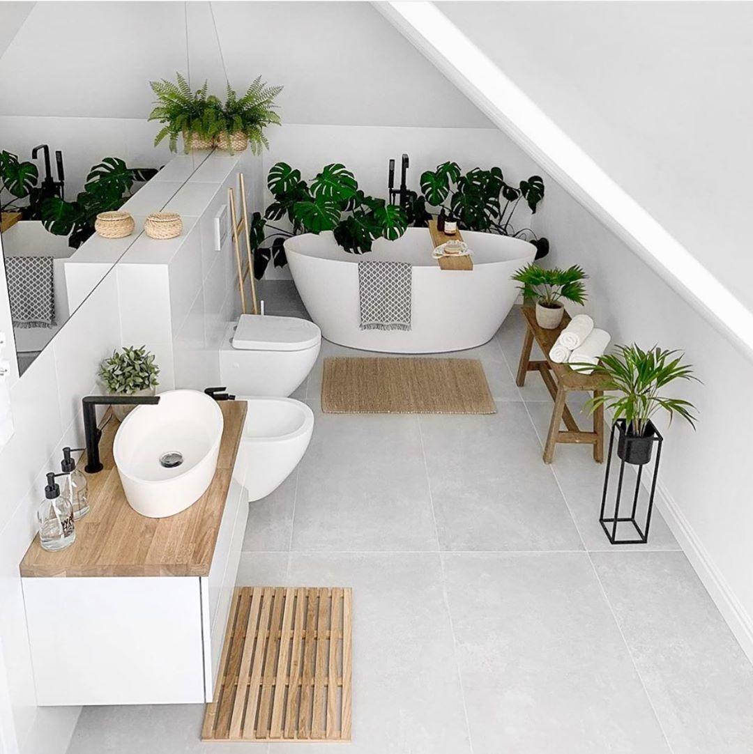 """Photo of Cosy Home Shots auf Instagram: """"Bevorzugen Sie ein Badezimmer mit Pflanzen oder ohne Pflanzen…"""