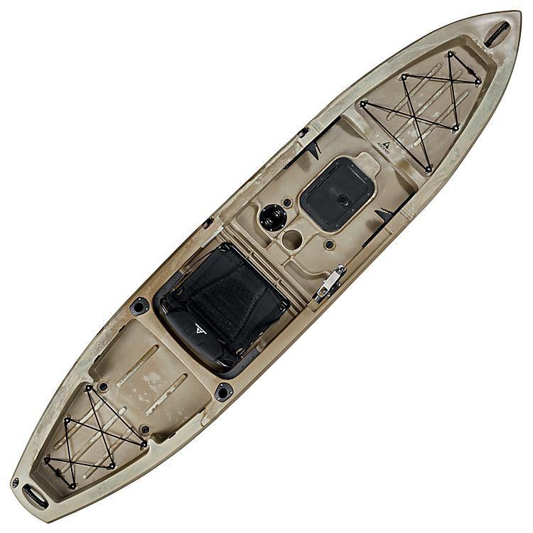 Ascend Fs12t Sit On Top Angler Kayak Desert Storm Bass Pro Shops A Versatile Design That S Great For Both Beginning Angler Kayak Kayaking Kayak Fishing