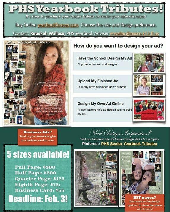 Senior Tribute  Business Ad Marketing Flyer  Phs Senior
