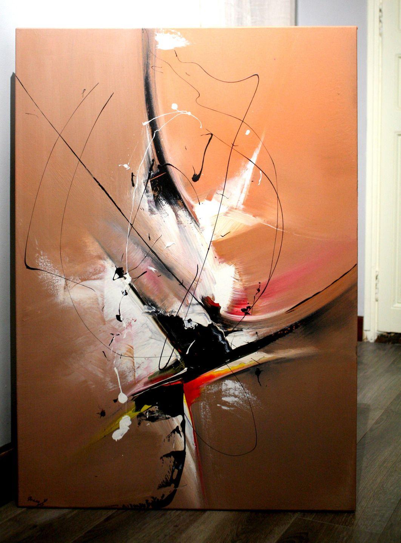 Tableau Contemporain Peinture Acrylique 91 64 Cm Arte Pinterest