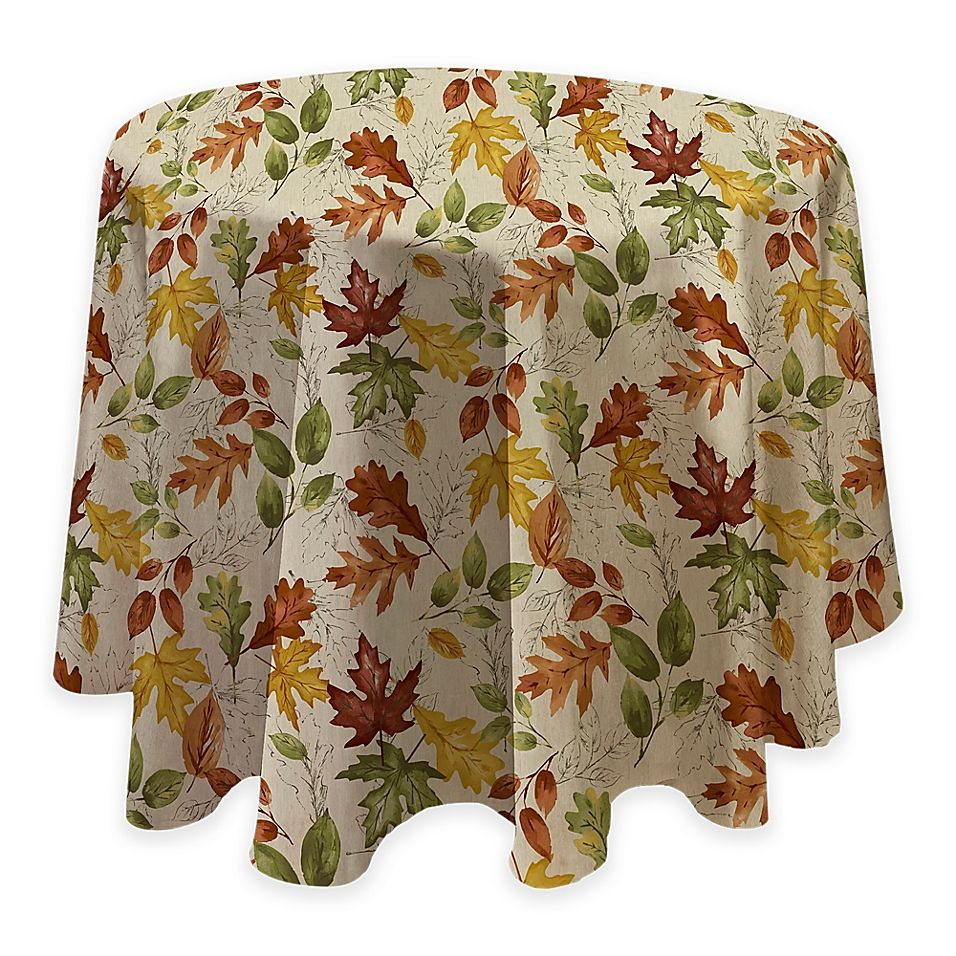 Autumnal Breeze 70 With Images Vinyl Tablecloth Elrene Home Fashions Vinyl Fabric