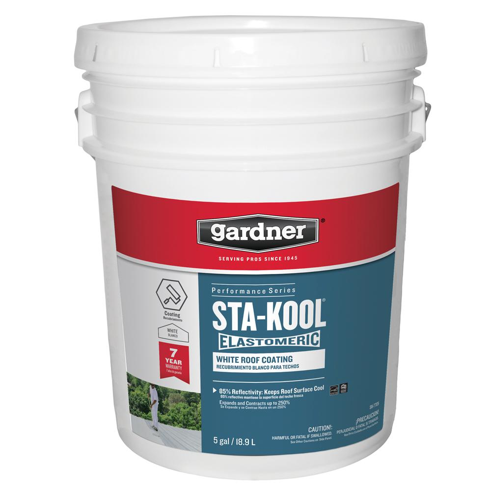 Gardner 5 Gal Sta Kool Elastomeric White Reflective Roof Coating Sk 7705 With Images Elastomeric Roof Coating
