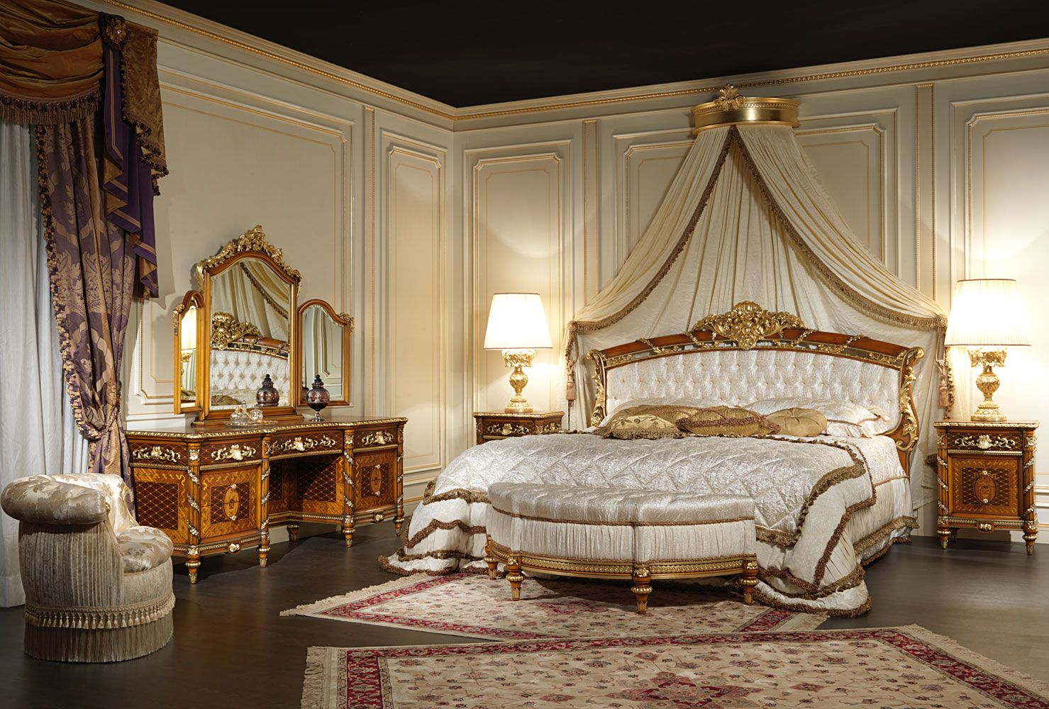 Classic bedroom in walnut Louis XVI style | Classic ...