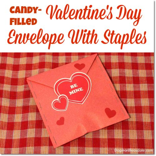 Easy Diy Valentine S Day Envelope With Staples Gift Crafts Super
