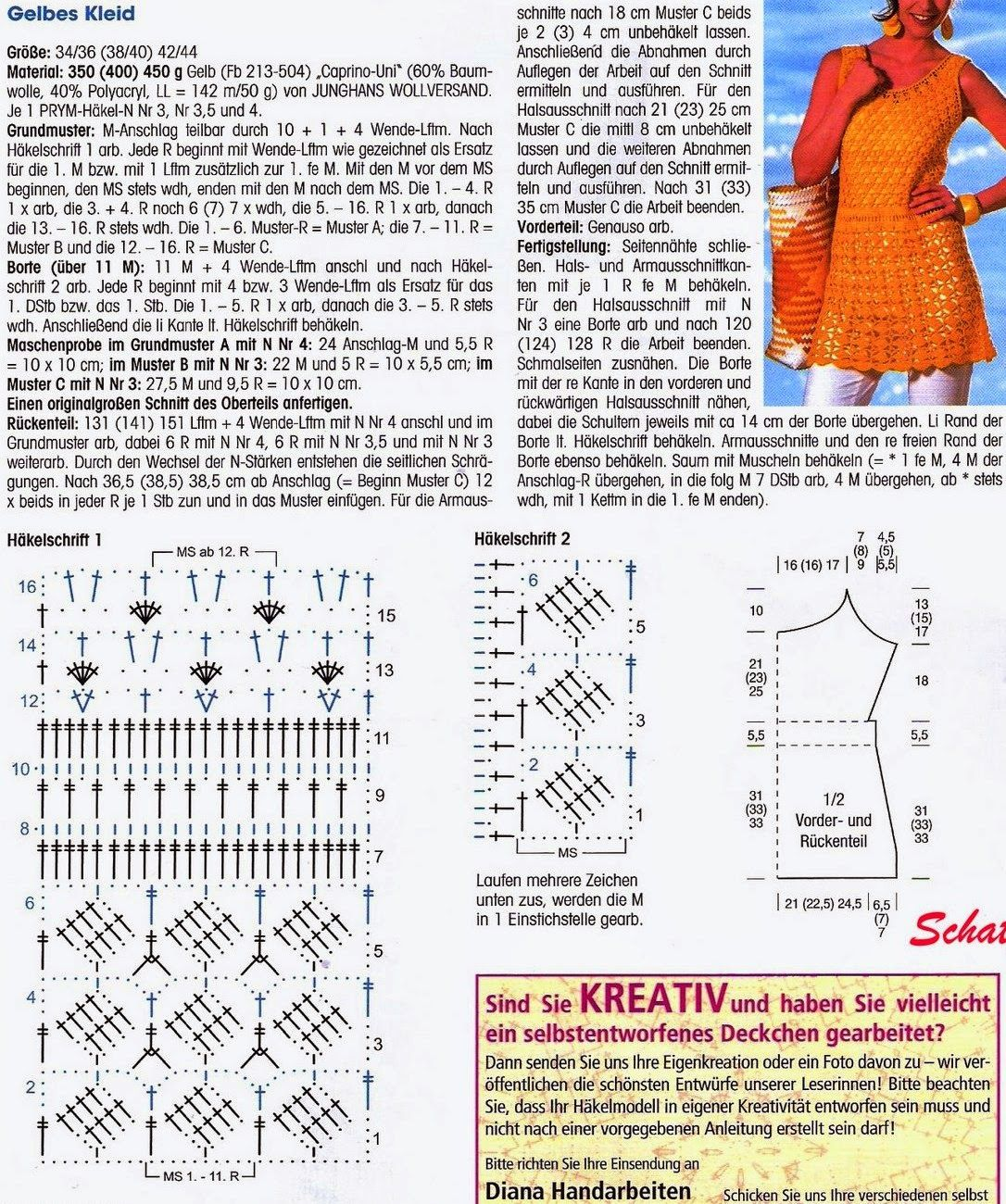 Häkelmuster Fundgrube: Kleider kurz