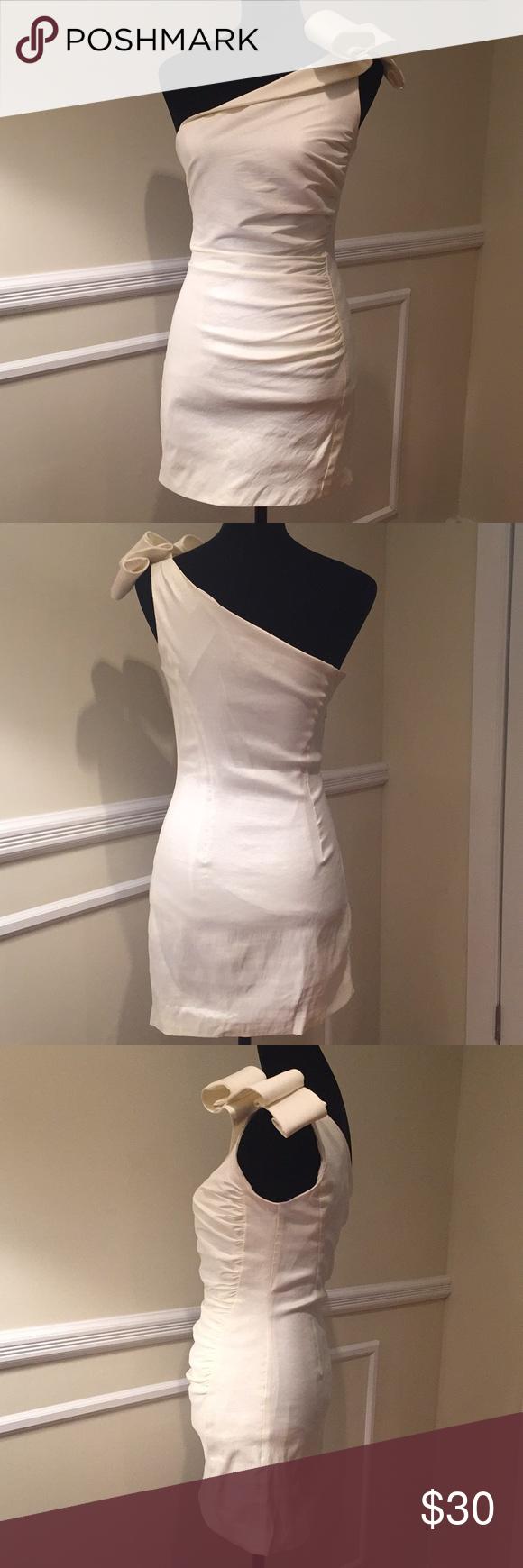 Jessica McClintock Cocktail Dress | Satin cocktail dress, White ...