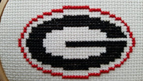 GO DAWGS! UGA University of Georgia 4 cross stitch ...