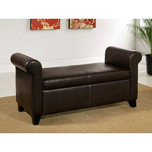 Surprising Abbyson Living Melrose Storage Ottoman Bench Dark Brown Machost Co Dining Chair Design Ideas Machostcouk