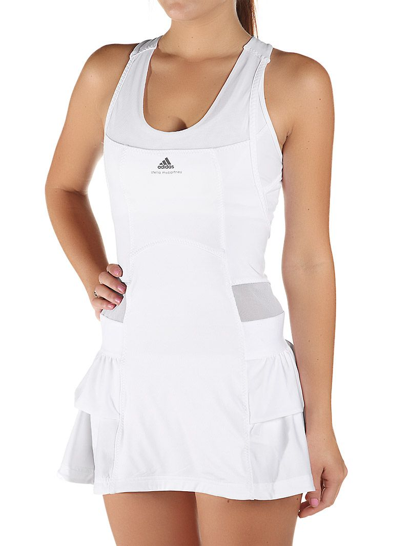 Adidas Women S Stella Mccartney Fall Dress White Tennis Outfit Women Tennis Fashion Tennis Dress [ 1067 x 800 Pixel ]