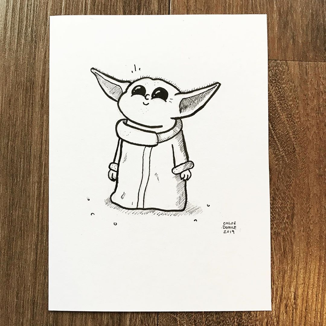 I couldn't NOT draw Baby Yoda. I'll have to come back and