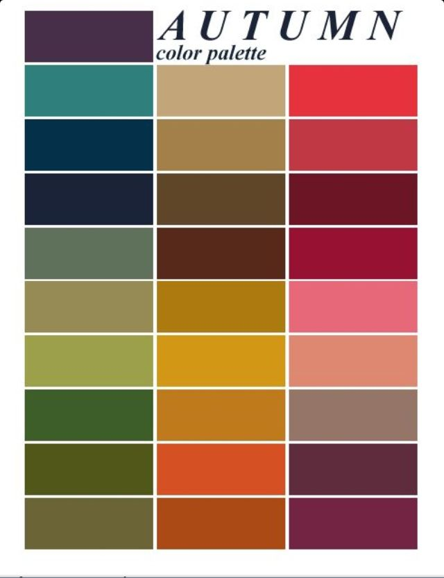 autumn color palette - for the capsule wardrobe - she shows everything!