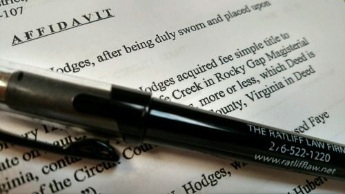 What is an  - affidavit statement of facts