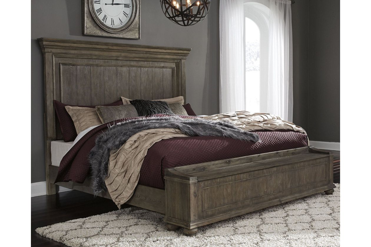 Johnelle Queen Panel Bed With Storage Ashley Furniture Homestore Ashley Furniture Bedroom Queen Panel Beds Upholstered Panel Bed