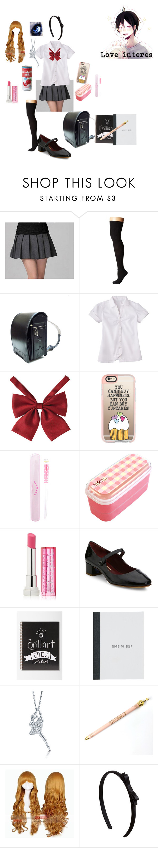 """""""Haikyuu oc #2"""" by bec1995 ❤ liked on Polyvore featuring Bootights, French Toast, Casetify, Maybelline, Marc Jacobs, Tadashi, BERRICLE and Coshome"""
