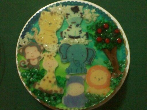 gelatina del cumple de Over Jesus N˚1, rica, bella  y cute! :)
