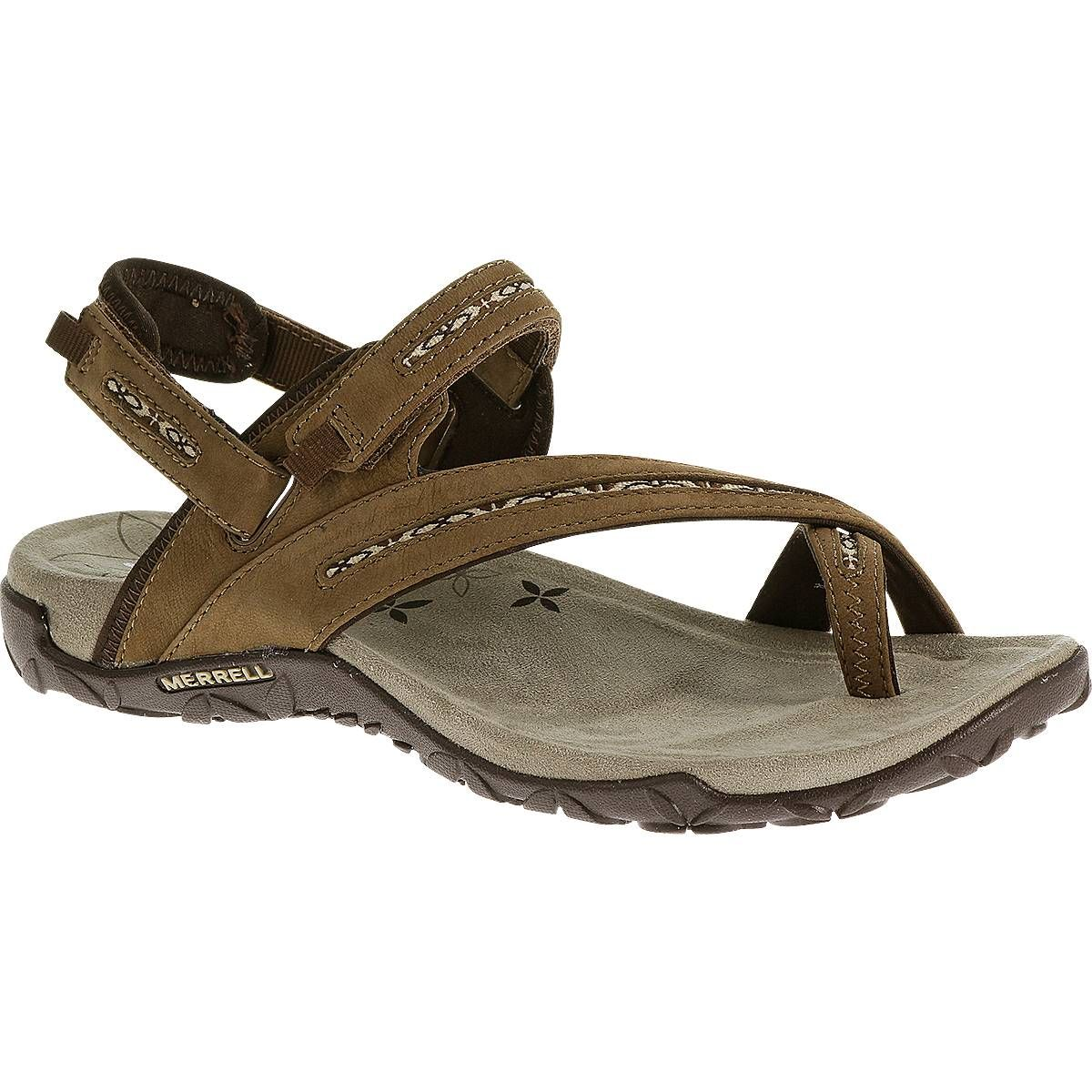 Look at this Merrell Dark Earth Terran Convertible Leather Sandal on today!