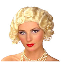 If you're looking for a cute and inexpensive blonde wig to go along with your flapper costume, look no further. $17.68