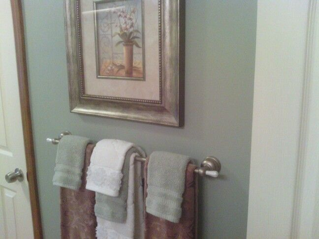 My Guest Bath Just Painted With Sherwin Williams Oyster Bay Paint I Love It The Color Oyster Bay Sherwin Williams Bathroom Paint Colors Floor Colors