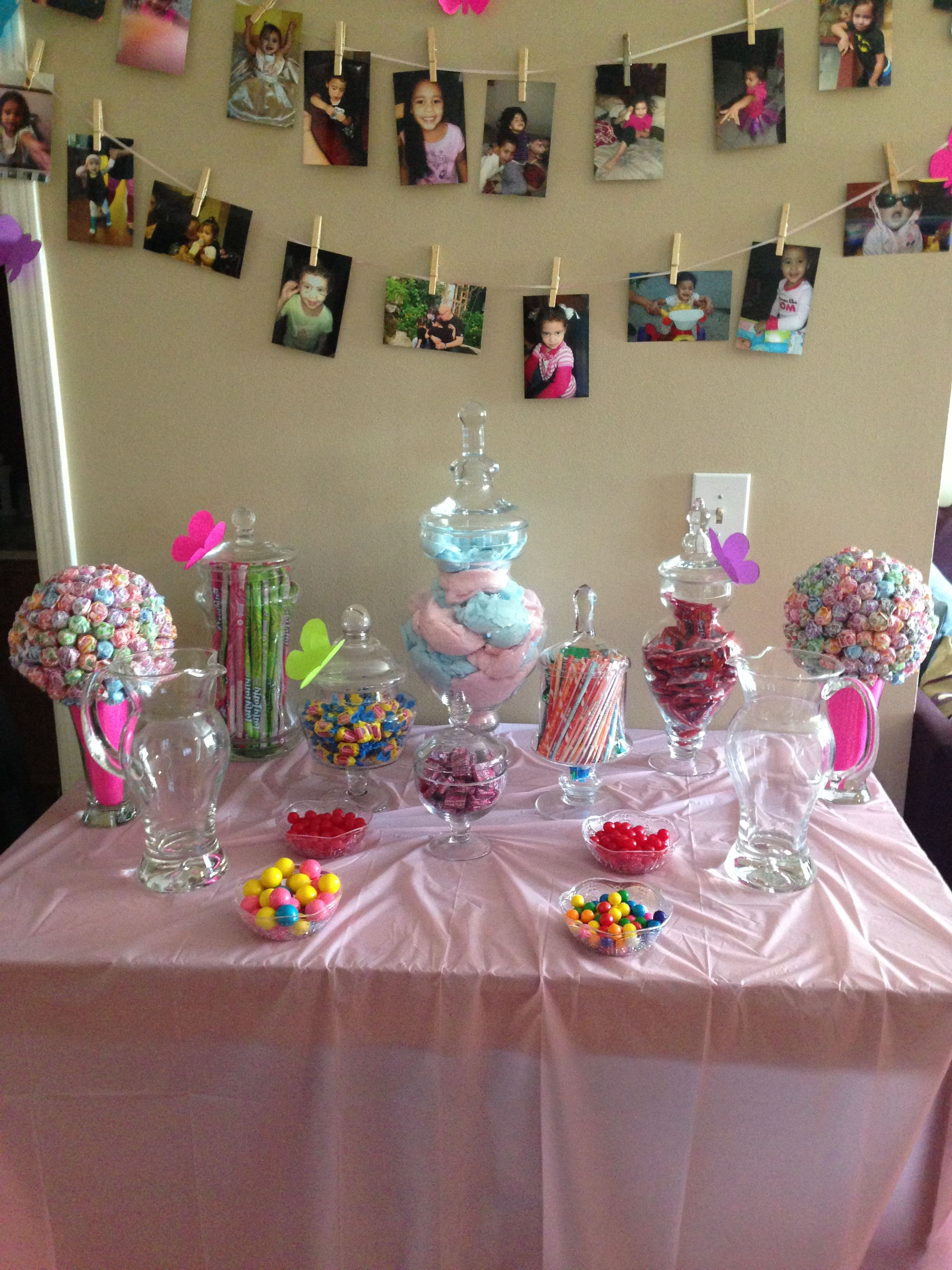 Candy Table Diy Candy Table Unicorn Birthday Parties Birthday Candy