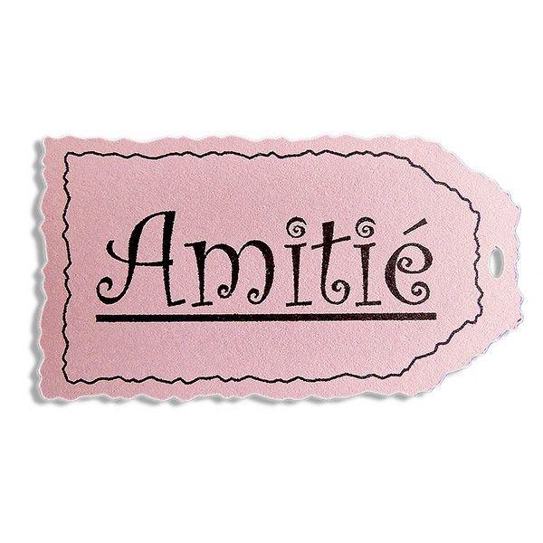 Etiquette Tag Amitié