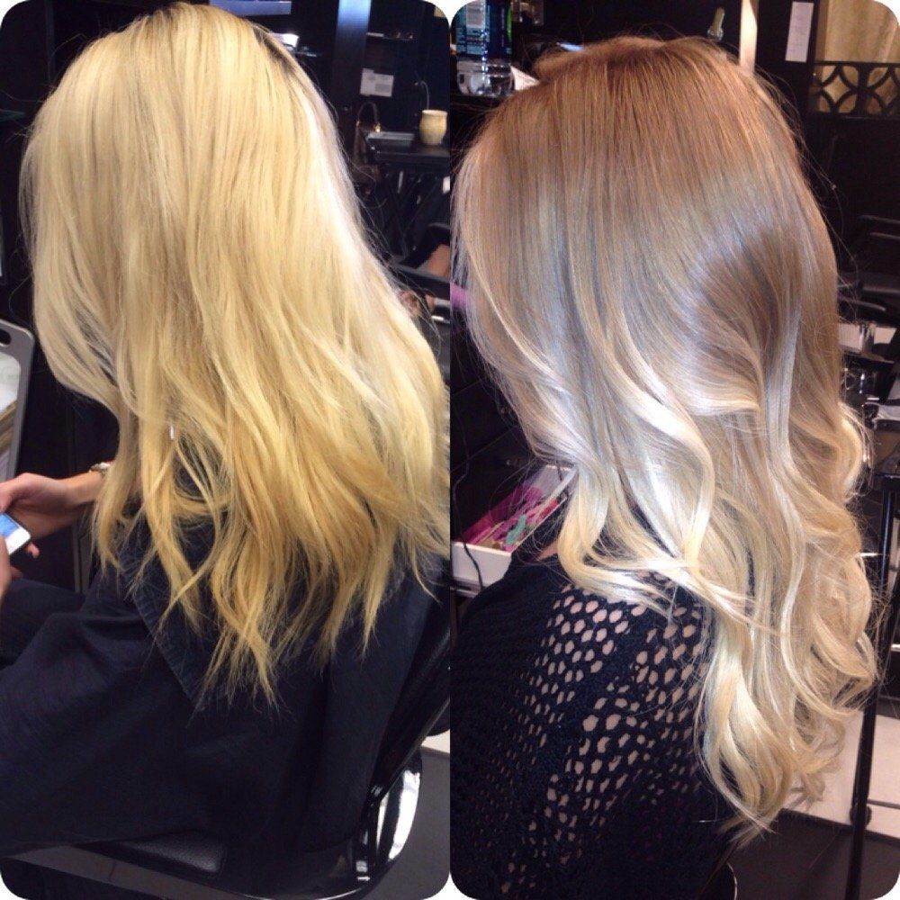 Tease Salon Hair Extensions Before And After Color Correction