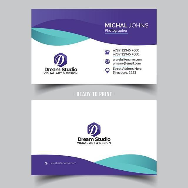 Business Card Template Design Vector Creative Modern