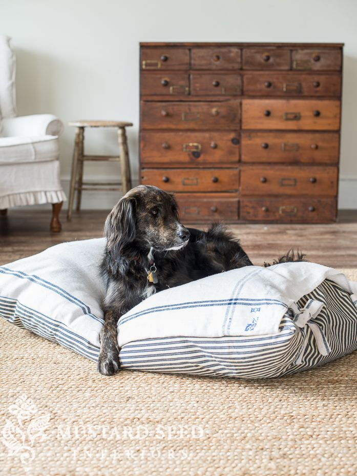 Farmhouse Style Dog Bed Cover With Images Covered Dog Bed Dog