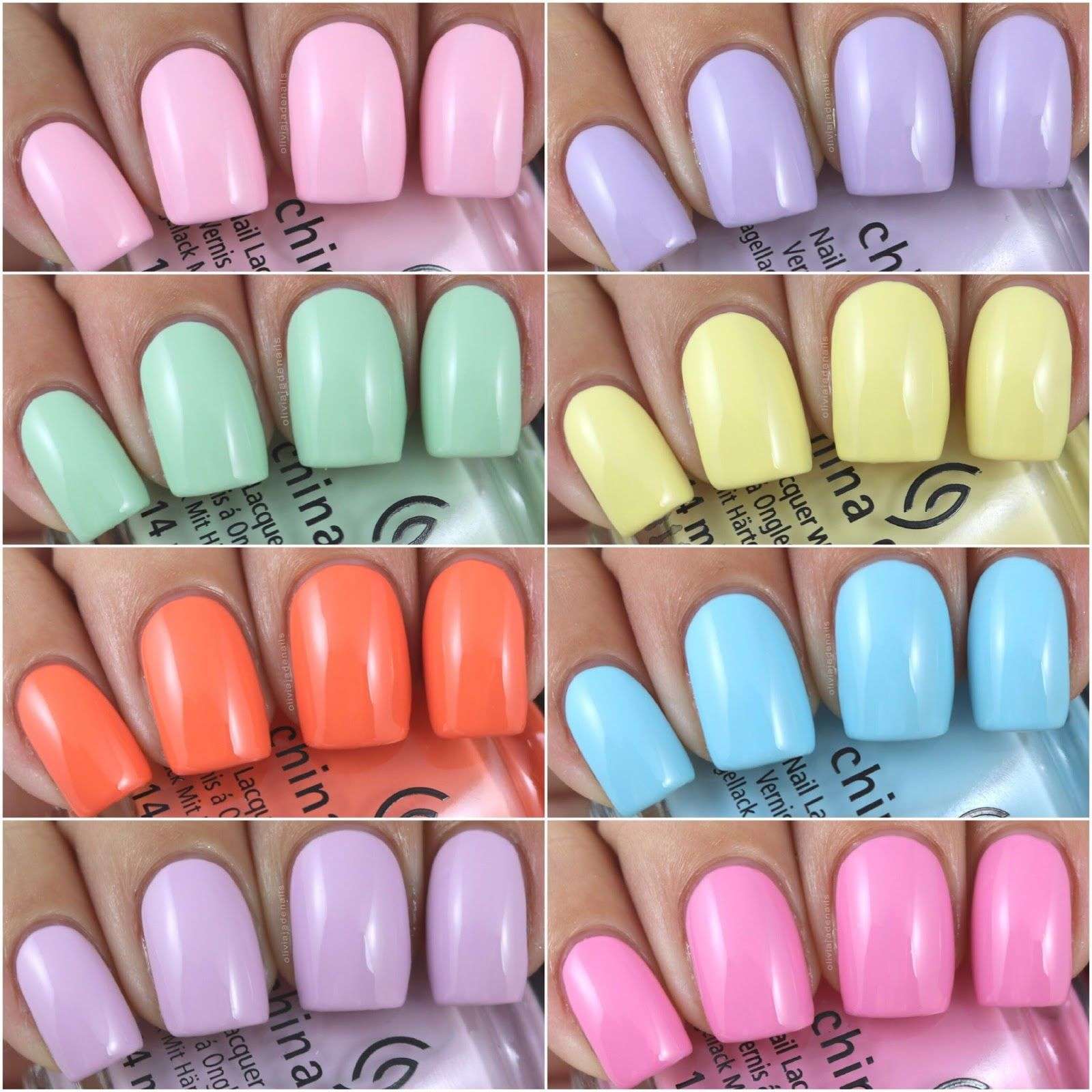 China Glaze Spring Pastels Collection – Swatches & Review by Olivia Jade Nails C…
