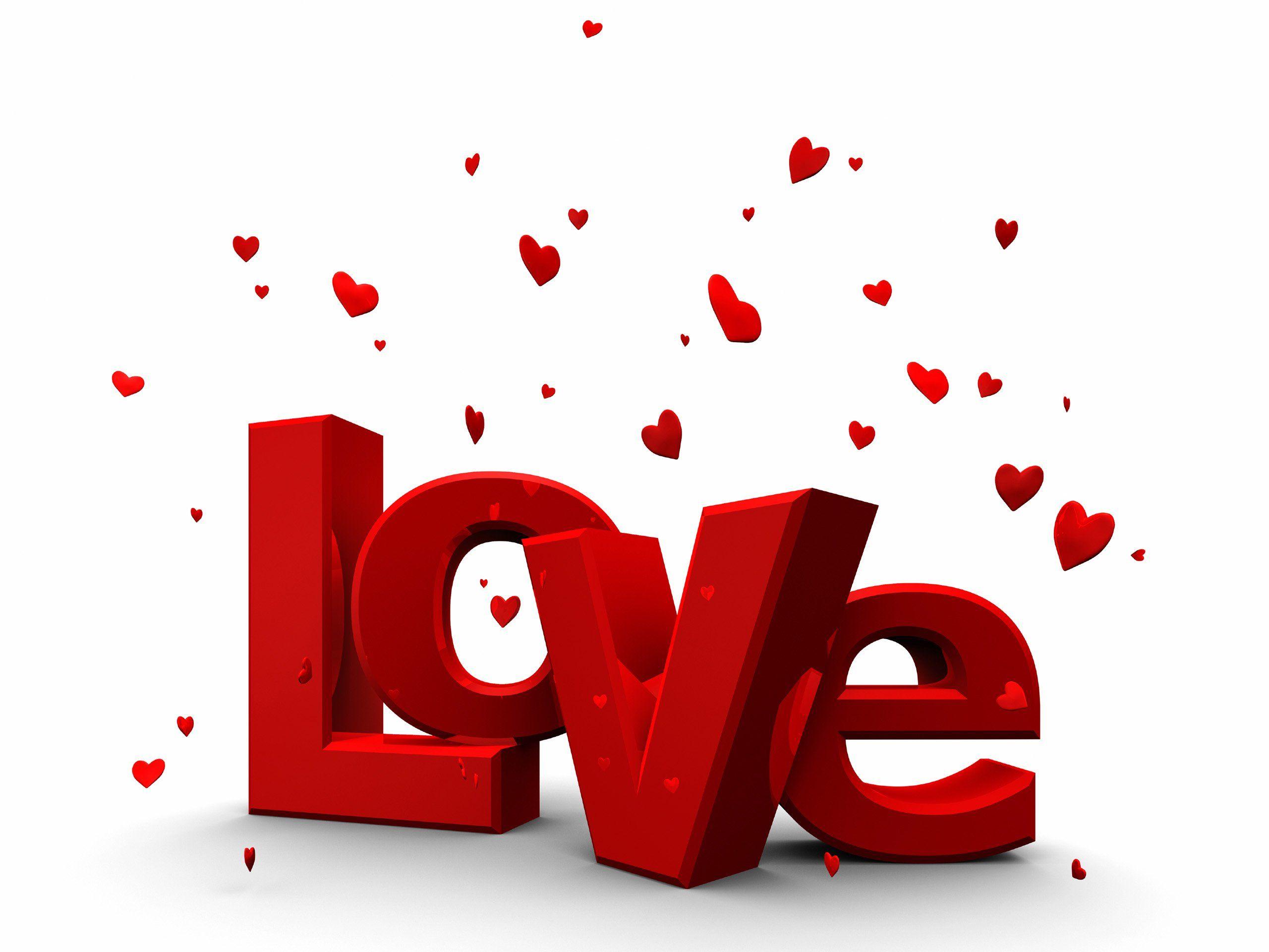 linda tarjeta de amor con la palabra love y corazones