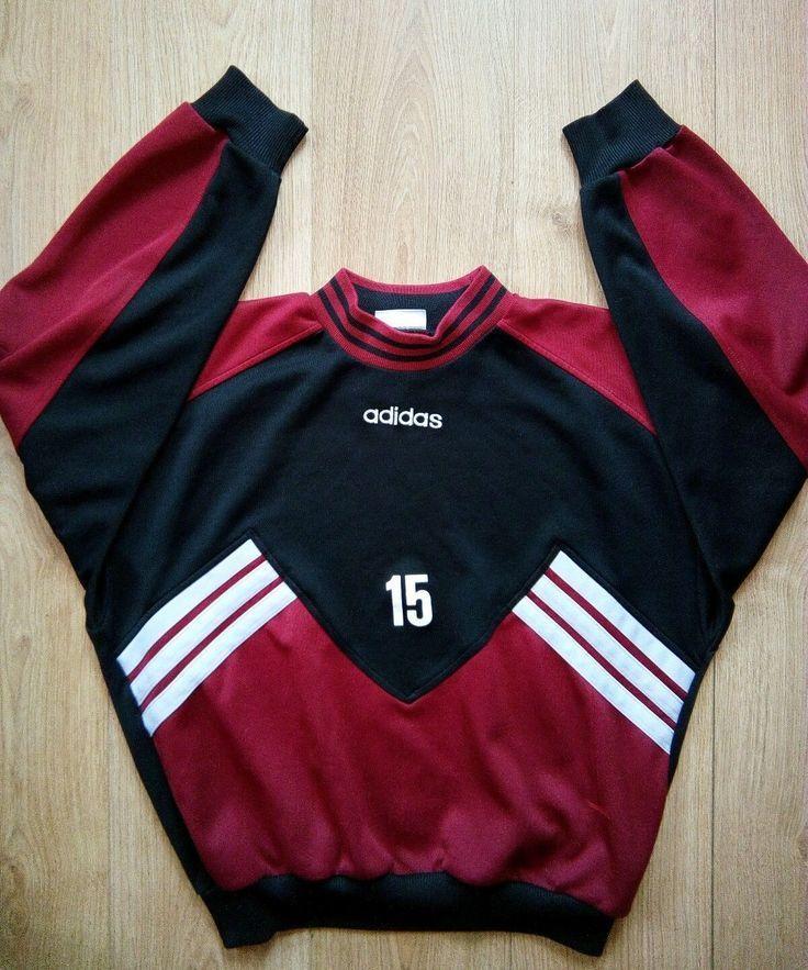 estafador Sucio Anuncio  Adidas Originals 90's Vintage Mens Sweater Sweatshirt Tracks- Adidas  Originals 90's Vintage Mens Sweater Sweats… | Vintage hoodies, Mens  outfits, Summer outfits men