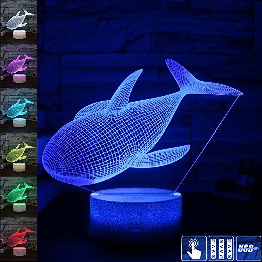 Amazon Com Gift Ideas Dolphin Night Lights 3d Illusion Lamp Animal Light Led Desk Lamps Anniversary Gifts For Led Desk Lamp 3d Illusion Lamp Nursery Lighting