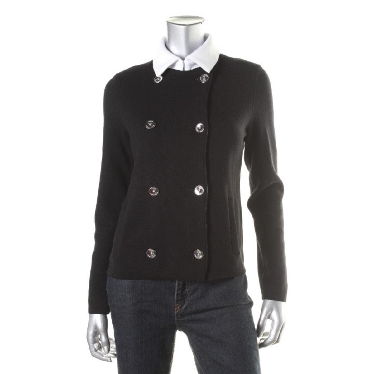 Lauren Ralph Lauren Womens Button-Down Double-Breasted Cardigan ...
