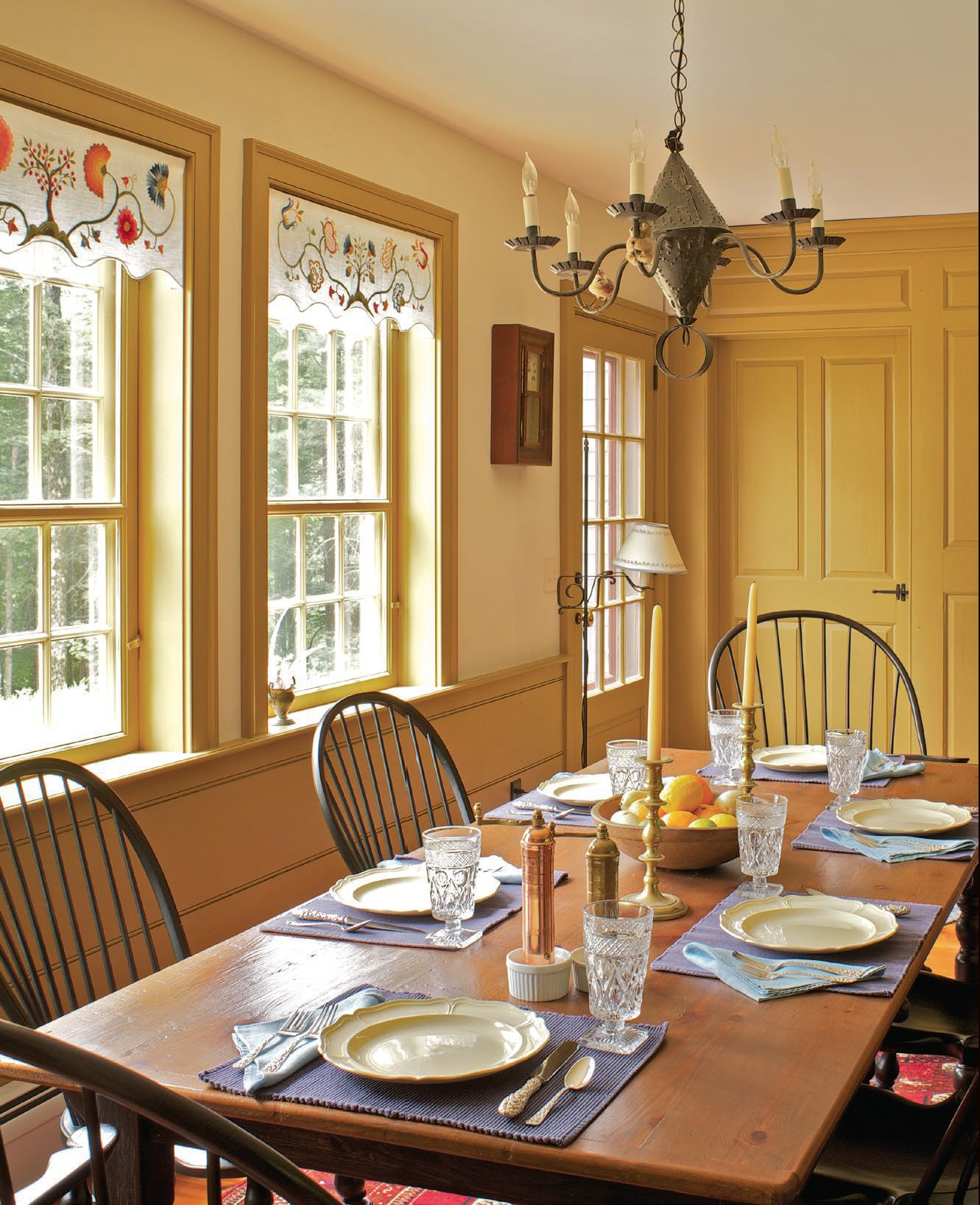 The Kitchen Wing Includes An Informal Dining Area With A Fully Paneled Fireplace Wall